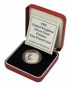 1994 Silver Proof Piedfort One Pound
